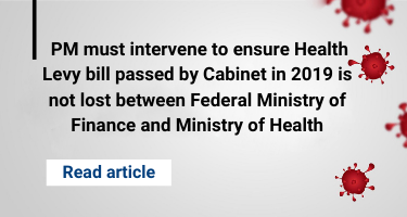 PM must intervene to ensure Health Levy bill passed by Cabinet in 2019 is not lost between Federal Ministry of Finance and Ministry of Health