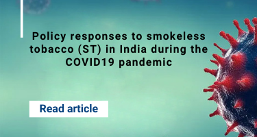 Policy responses to smokeless tobacco (ST) in India during the COVID19 pandemic