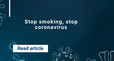 Stop smoking, stop coronavirus