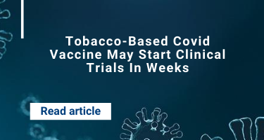 Tobacco-Based Covid Vaccine May Start Clinical Trials In Weeks